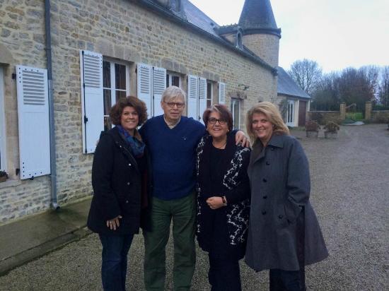 Manoir Les Quatre Etoiles: Saying goodbye to our hosts