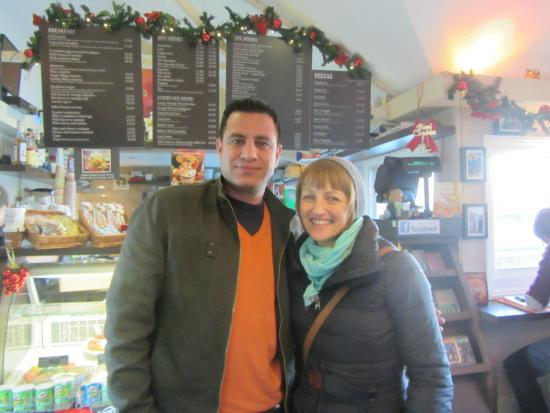 Riverside Cafe Lambeth Pier: Friendly Owner