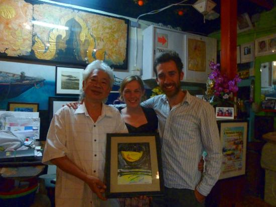 The Artists' Place: We bought a beautiful painting from Charlee at the end of our stay