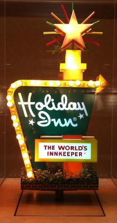 Miniature Vintage Holiday Inn Sign On 2nd Floor Lobby Even