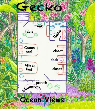 Tranquilseas Eco Lodge and Dive Center: Gecko Cabana