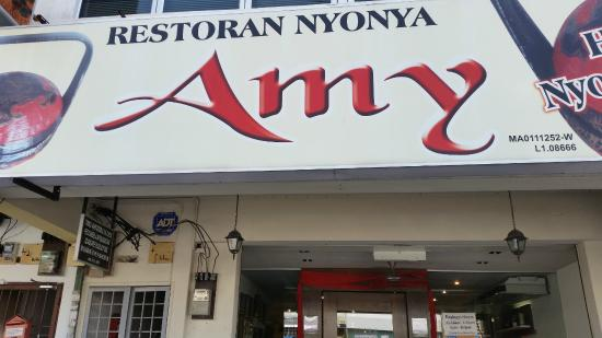 Amy Heritage Nyonya Cuisine: Amy Exterior Signboard. Look out for this