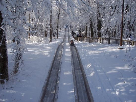 Angola, IN: Dual Track Refrigerated Toboggan Run