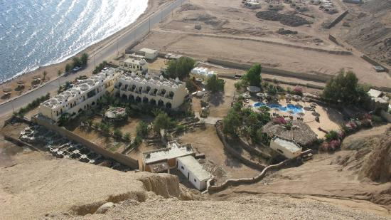 The Bedouin Moon Hotel: View from the mountain top