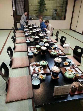 Oyado Yamakyu: Ready for dinner - it was a banquet!