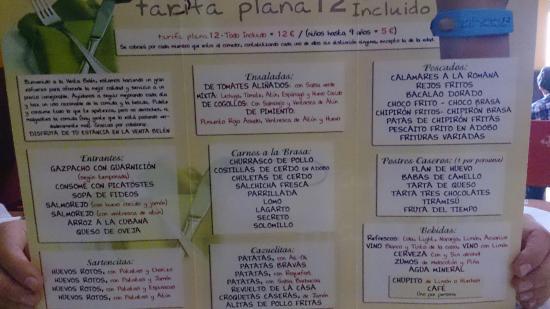 Zafra, İspanya: Esta es la carta