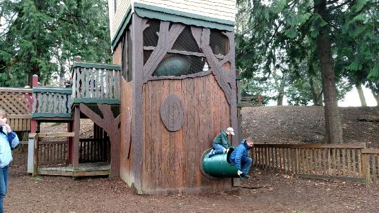 City Park (Million Smiles Playground Park): Bottom of 3 story slide