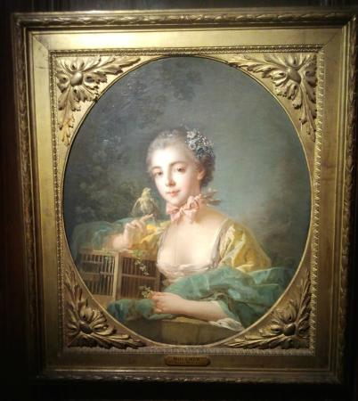 Musee Cognacq-Jay: Oil painting on canvas by François Boucher, 1760, presumed to be his daughter