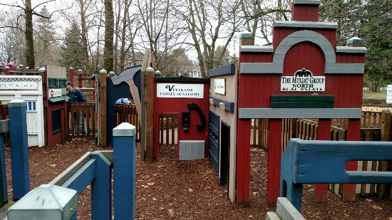 City Park (Million Smiles Playground Park): Play village with sponsoring business names