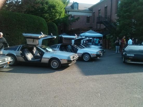McMenamins Grand Lodge: Weird DeLorean Party on the Grounds