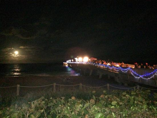 during the ocean way holiday the pier and ocean way are lit with, Reel Combo