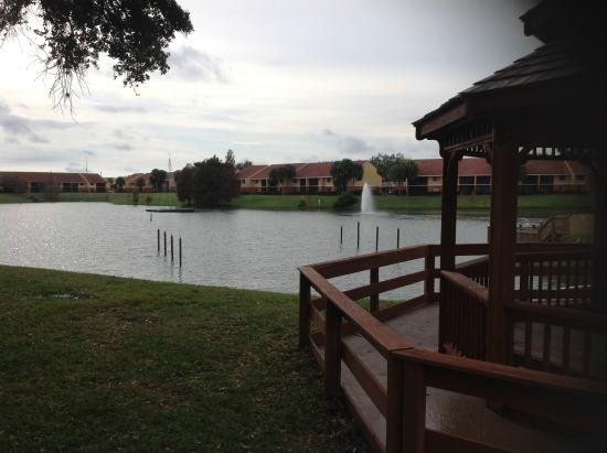 WorldMark Kingstown Reef: View of the lake, from the tennis court.