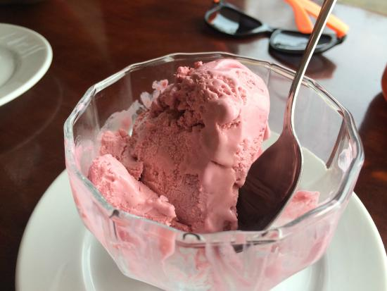 Mora ice cream from Booby Trap