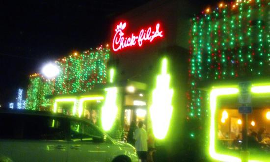Christmas lights - Picture of Chick-fil-A, Tampa - TripAdvisor