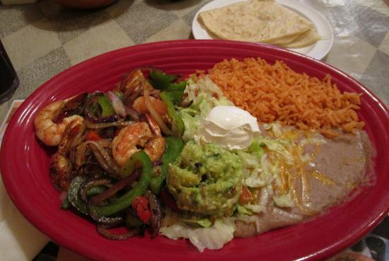 Rigo S Mexican Restaurant Shrimp Fajitas With Flour Tortillas