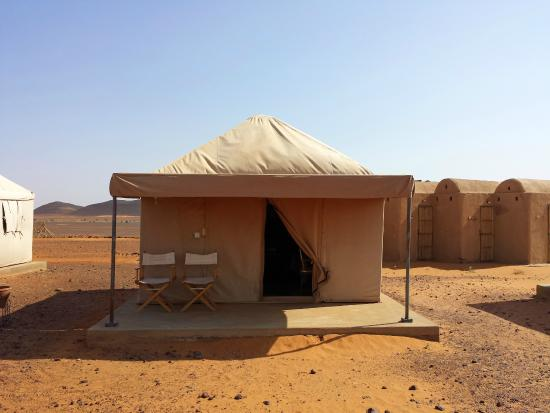 Meroe Tented Camp: My tent, bathrooms in the background