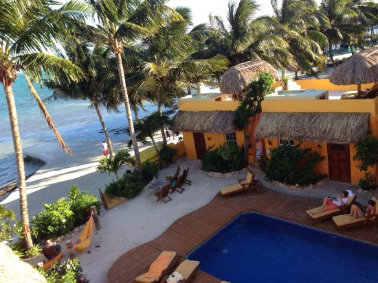 Seaside Cabanas: View from balcony of Room 18