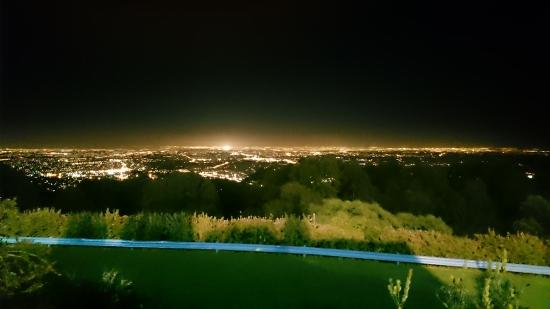 SkyHigh Mount Dandenong: Our view at 10:30pm