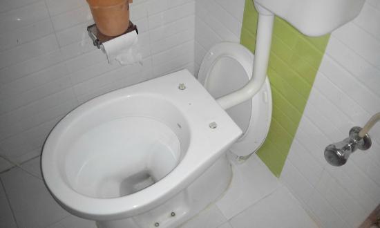 Anjani Hotel: Broken toilet cover