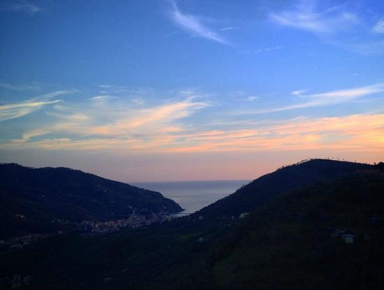 L'Antico Borgo : View from the balcony at sunset