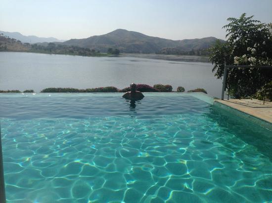 Endless Swimming pool at Jhadol Jungle safari - Picture of ...