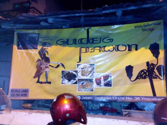 Gudeg Pawon: Look for this sign when you enter Jalan Janturan