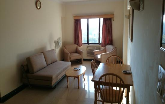 AB Executive Apartments : 1 BHK Living Room