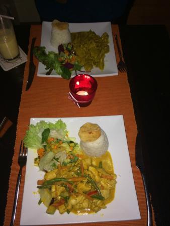 Restaurant Serai: Beide Hauptspeisen