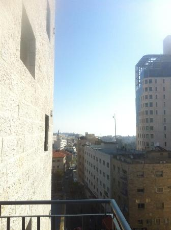 Hillel 11: View from the balcony. The Old City can be seen in the distance.