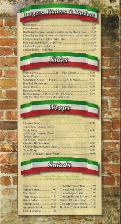 Napoli Pizza: Inside Menu 1