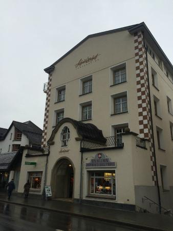 Hotel Schweizerhof : The Schweizerhof Hotel {the original front}