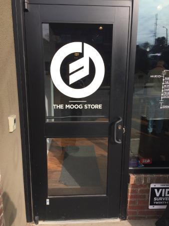 Moog Music Factory Tour: Entry Door