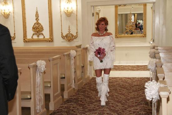 Paris Las Vegas Wedding Chapel Yep My Dress Was Short Very Ooh