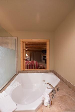 Sisters, OR: Sliding Wood Panel Between Room And Bath