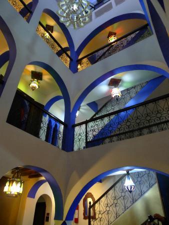 Riad Assilah Chefchaouen: Vista desde el Patio central