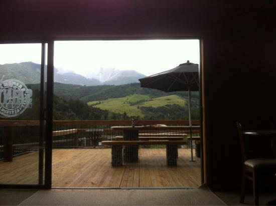 Mt Lyford Lodge: Top deck with view