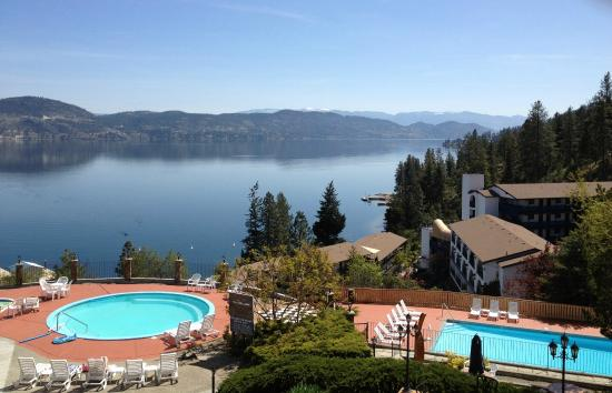 Lake Okanagan Resort: View of Lake and Pools from Clubhouse
