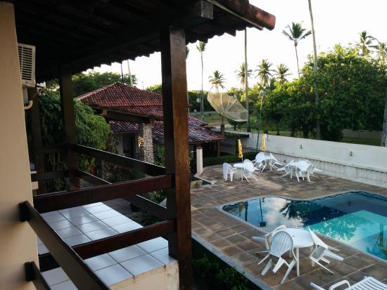 Taperapuan Praia Hotel: Varanda e Piscina