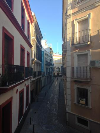 Hotel Madrid de Sevilla: View from our room