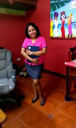 Martha's Guesthouse: Our Receptionist Ms. Myra