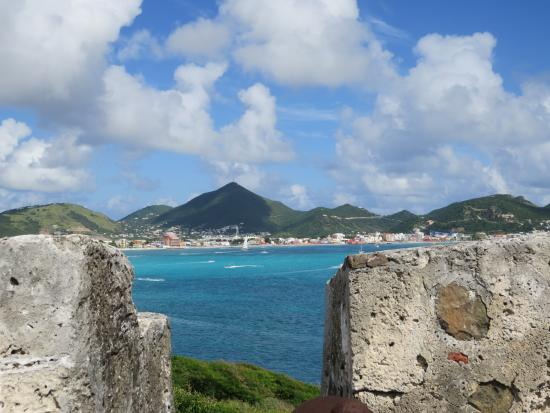 Simpson Bay, St-Martin/St Maarten : View from Fort Amsterdam