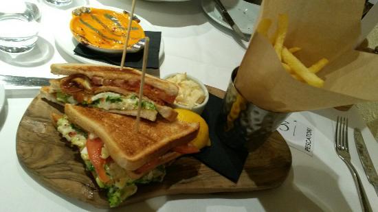 ... Fish & Seafood Restaurant Charlotte St: Lobster club sandwich
