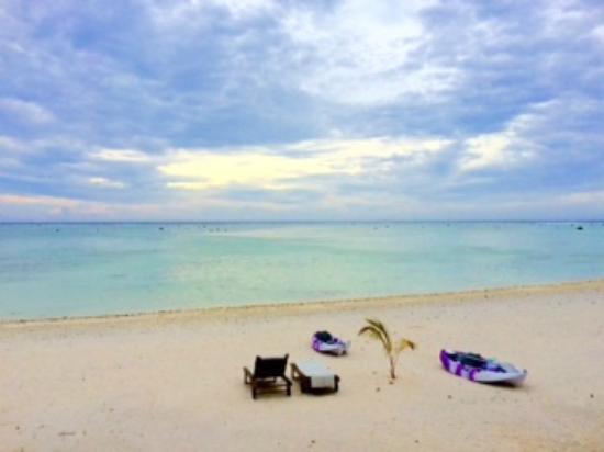 Aitutaki Seaside: sitting on villa balcony