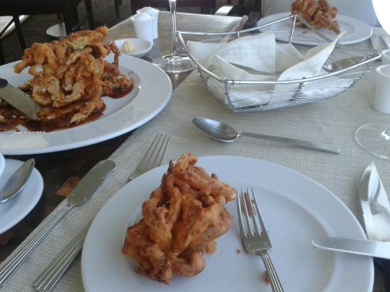 Restaurante El Giratorio: Anillos de cebolla,  ummm