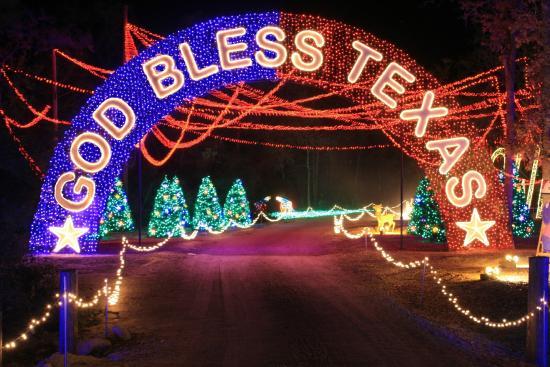 santas wonderland god bless texas - Christmas Lights College Station