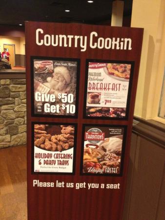 Country Cookin' at Warrenton VA