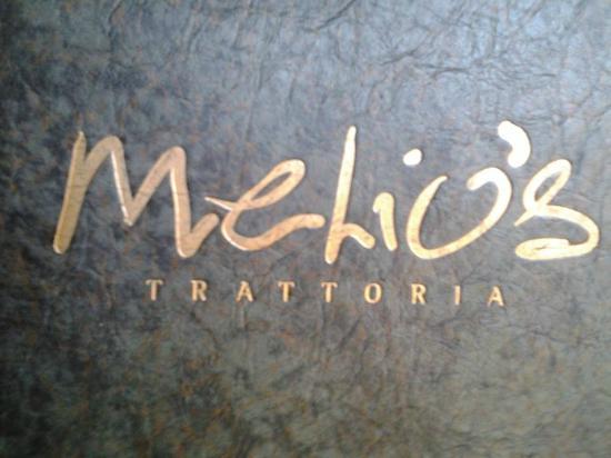 Melio's Trattoria : menu