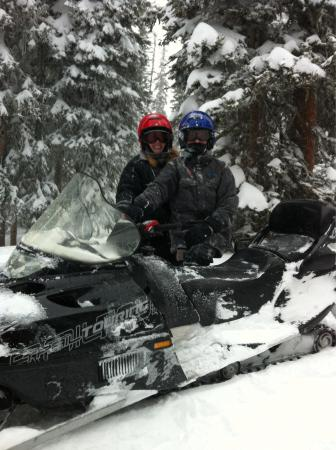 Steamboat Snowmobile Tours: Mother son bonding time