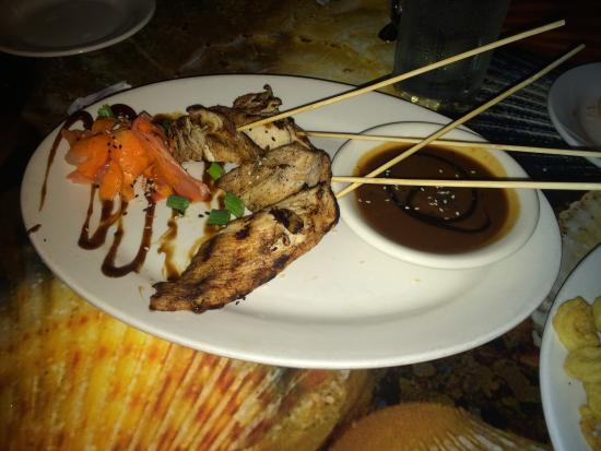 Chicken satay picture of kaya island eats key west for Key west fish and chicken