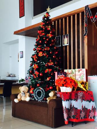 The Christmas Tree and decoration at Ipoh Downtown Hotel